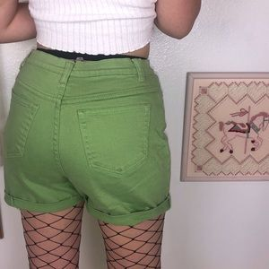 Green High Waisted Shorts Distressed  Style & Co